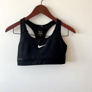 Black & white Nike sports bra